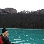 Toni Bardsley at Lake Louise